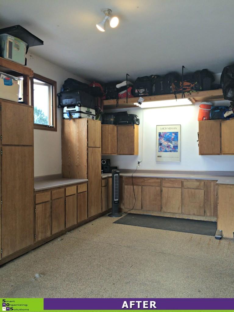 Cluttered Garage After