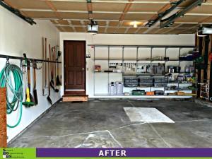 Garage Makeover Left After