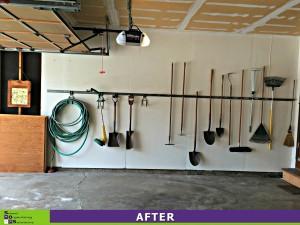 Garage Makeover Left Wall After