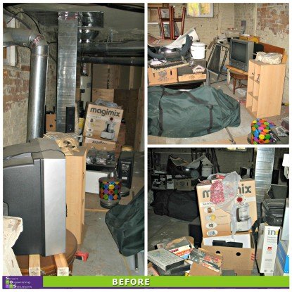 Basement Clean-up Before