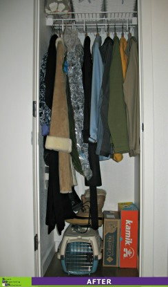 Happy Hall Closet After