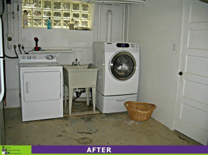 Basement Spruce-up, Laundry After