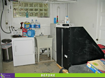 Basement Spruce-up, Laundry Before