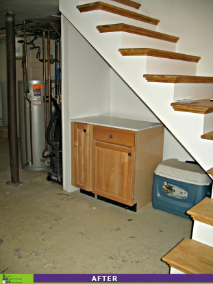 Basement Spruce-up, Under Stairs After