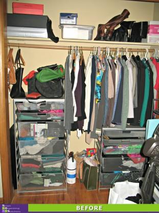 Closet Chaos Before