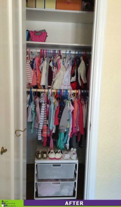 3 Closets in 1 Day, Daughter's Closet Before