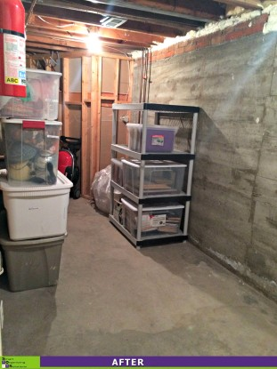 Basement Storage Sorted After
