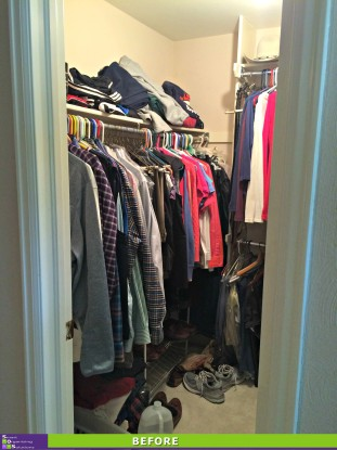 Master Closet Makeover Before