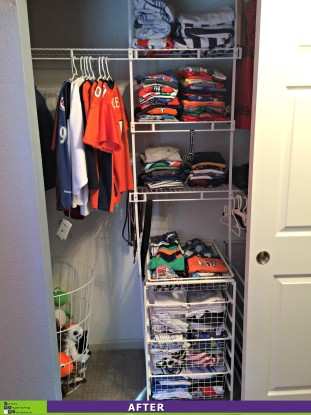 A Boy Reclaims His Closet After