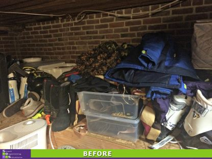 Organized Crawl Space Before