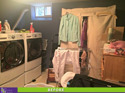 Over Loaded Laundry Room Before