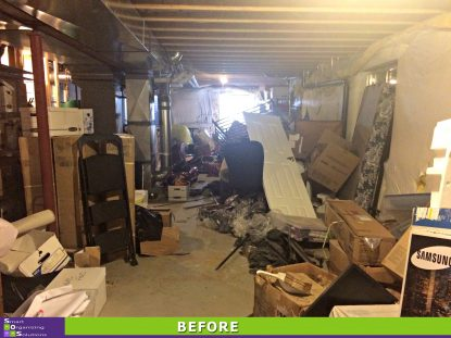 The Big Basement Clean Out Before