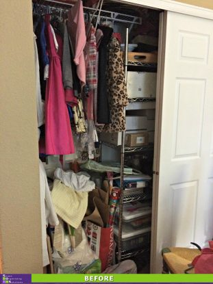 A Chaotic Closet Gets a Clutter Makeover Before