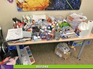 Organized Art Therapy Before
