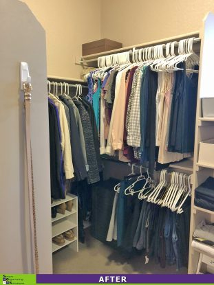 A Tidier Master Closet After