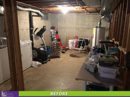 A More Organized Basement Before